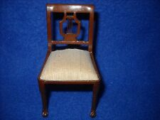 Dollhouse miniature: lyre back chair by Bespaq, 1:12 scale, #7026