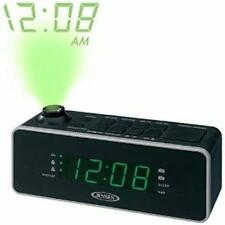 Jensen AM FM Black Dual Alarm Projection Clock Radio