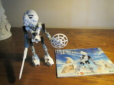 Lego Bionicle Technic 8536 Kopaka  Complete Figure+ weapons + VG Instructions