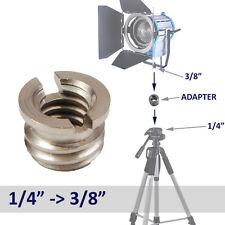 """F&V PRO 1/4"""" Female to 3/8"""" Male Conversion Tripod Head Thread Adapter Screw"""