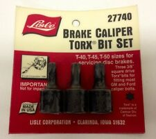 Brake Caliper Torx Bit Set T-40 T-45 T-50 for GM And Ford