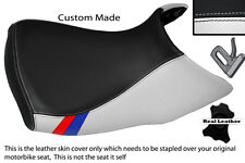 BLACK & WHITE CUSTOM M3 STRIPE FITS BMW R 1200 GS FRONT 04-12 LOW SEAT COVER