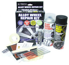 E-Tech Black Car Alloy Wheel Refurbishment Repair Full Kit - Paint Lacquer Putty