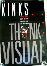 """The Kinks """"Think Visual"""" Promo POSTER Printed in 1986"""