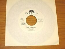 """PROMO 70s 45 RPM - PEOPLE - POLYDOR 14087 - """"CHANT FOR PEACE"""""""
