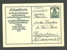 Pre WWII World War 2 Feld Post Number Postcard German 1935 Letter Hand Stamp