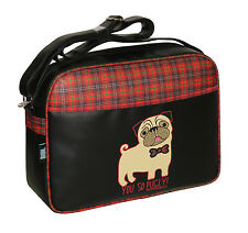 DAVID AND GOLIATH -YOU SO PUGLY CABIN/SCHOOL/COLLEGE/SPORTS SHOULDER BAG - BLACK