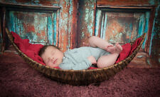 handmade Crescent basket boat basket Newborn baby photography photo props  D-3