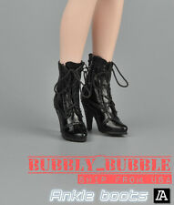"1/6 Women Shoes Ankle Boots For 12"" Hot Toys Phicen Female Figure SHIP FROM USA"
