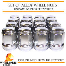 Alloy Wheel Nuts (16) 12x1.5 Bolts Tapered for Ford Grand C-Max 10-16