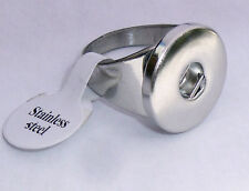 Premium Snap-It Stainless Steel Ring For Snaps Style Button Charm Size 9 1/2