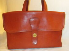 Coach NYC Vintage Bonnie Cashin Rust/Cyan Leather Double-Sided Briefcase/Tote