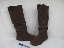 Steve Madden Tianna Brown Suede Leather Slouch Fashion Boots Size 8.5 M