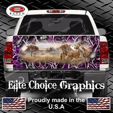 Whitetail Buck Skull Pink Camo Truck Tailgate Wrap Vinyl Graphic Decal Wrap