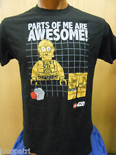 Mens Licensed Lego Star Wars C3PO Parts Of Me Are Awesome Shirt New L