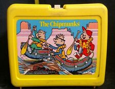 Vintage 1984 The Chipmunks Lunch Box Plastic Made in USA