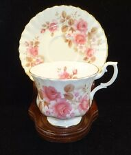 Vintage Royal Albert Fine Bone China Tea Cup and Saucer Set-Pink Roses