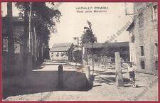 NOVARA VARALLO POMBIA 29 Viale della MADONNA Cartolina VIAGGIATA 1931