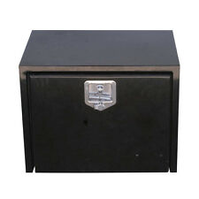 "36"" Black Steel Tool/Step Saddle Box with Lock and Keys"