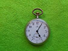 OMEGA POCKET WATCH LARGE NICKEL CASE WORKING