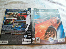 PLAYSTATION 2 INSERT NEED FOR SPEED UNDERGROUND