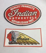 NEW INDIAN MOTORCYCLES Logo MOTOR AUTO Logo embroidered Badge Patch & Sticker