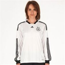 adidas Womens size 12 / 14  DFB Germany Long Sleeve Home Shirt White/Black/Gold