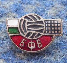 BULGARIA VOLLEYBALL FEDERATION ASSOCIATION UNION 1960's ENAMEL PIN BADGE