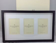 Pottery Barn Picture Frame - Wood Gallery Black three 4x6 openings 11 x 18 boxed