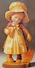"""Anri Sarah Kay """"FEEDING THE CHICKENS"""" Wood Carved 6"""" #653007 NEW IN BOX"""