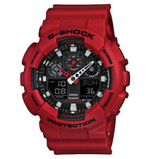 Mens Casio G-shock red chronograph watch GA-100B-4AER