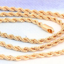 21inches 14K Yellow Gold Plated Chain Link Necklace Birthday Heavy Fashion New