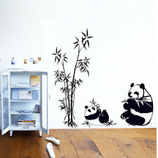 Cute DIY Panda Bamboo Pattern Removable Vinyl Decal Home Room Decor Wall Sticker