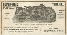 Y2954 Moto FRERA Super-Raid - Pubblicità del 1923 - Old advertising