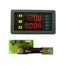 Solar DC Dual Digital Led Voltmeter Ammeter Power Meter 9-90V 50A +shunt 12v 24v