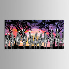 Unframed Abstract Canvas Print Home Decor Wall Art Painting Picture Zebra Sunset