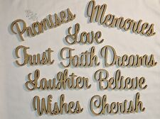 Set of 10 Freestanding table numbers/words wooden raw events wedding