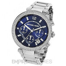 *NEW* MICHAEL KORS LADIES PARKER SWAROVSKI BLUE WATCH - MK6117 - RRP £229