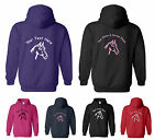 PERSONALISED ADULT HOODY, HORSE HEAD DESIGN, Small to XXL, GLITTER / PLAIN