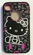 Hello Kitty Pink Hard Cover Case with silicone Skin for iPhone 4- 4S