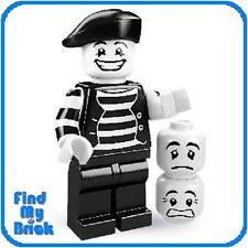 NEW - Lego Minifigure 8684 Series 2 -  Mime ( Brand New Not Sealed ) NEW