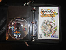 LOT OF 10 PS2 GAMES + MANUALS IN PLAYSTATION TRAVEL CASE SIMPSONS HARVEST MOON
