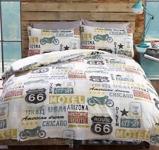 Industrial Urban American Route 66 King Size DUVET PILLOWCASE SET BEDDING