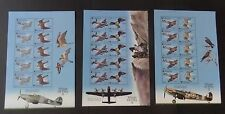 Gibraltar 2000 Wings of Prey SG943/8 sheetlets MNH UM birds aircraft  spitfire