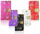 Bling Diamond Magnetic Flip Leather Wallet Case For Various Mobile Phones