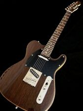 Exotic Wood Ebony Top Tele style 6 String Electric Guitar