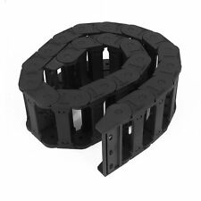 Machine Tool 25 x 77mm Black Cable Wire Carrier Drag Chain Nested T8