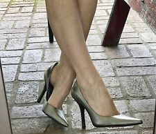 *siLVeR LeATheR* SZ 9 Pointy Toe CARRIE Stilettos Snakeskin Heels PUMP GuESS