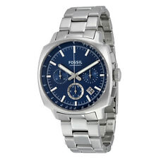 Fossil Haywood Chronograph Blue Dial Stainless Steel Mens Quartz Watch CH2983