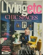 Living Etc Nov 2016 Chic Spaces Easy Luxury Ideas Personality FREE SHIPPING sb